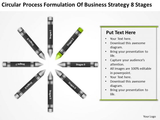 Business Entity Diagram Process Formulation Of Strategy 8 Stages Ppt PowerPoint Slides