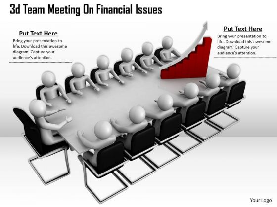 Business Expansion Strategy 3d Team Meeting Financial Issues Adaptable Concepts