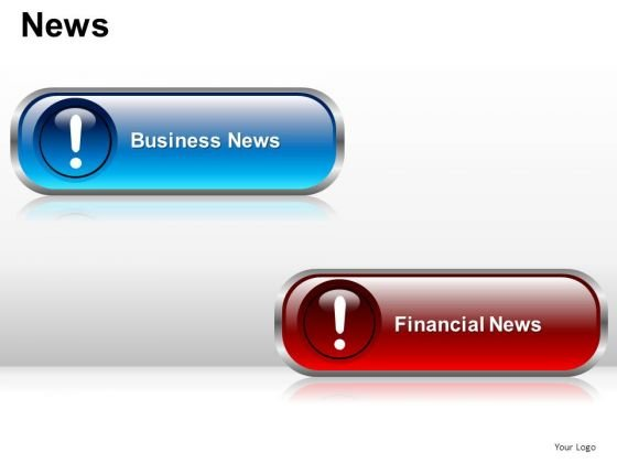Business Finance News Buttons PowerPoint Slides And Ppt Diagram Templates