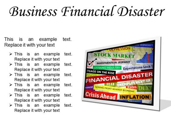 Business Financial Disaster Marketing PowerPoint Presentation Slides F