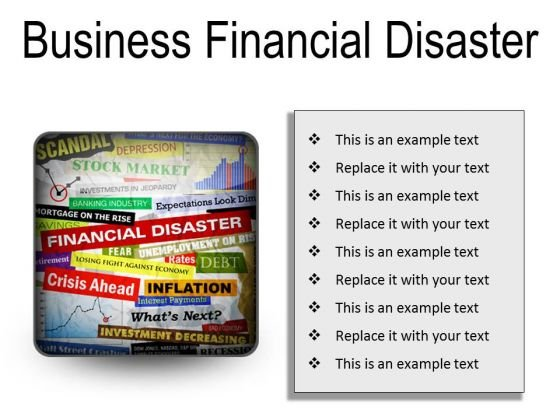 Business Financial Disaster Marketing PowerPoint Presentation Slides S