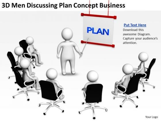 Business Flow Chart Discussing Plan Concept PowerPoint Presentation Slides