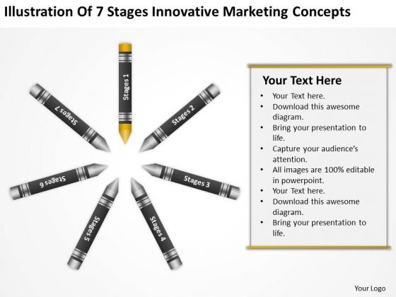 Business Flow Diagram Of 7 Stages Innovative Marketing Concepts Ppt PowerPoint Templates