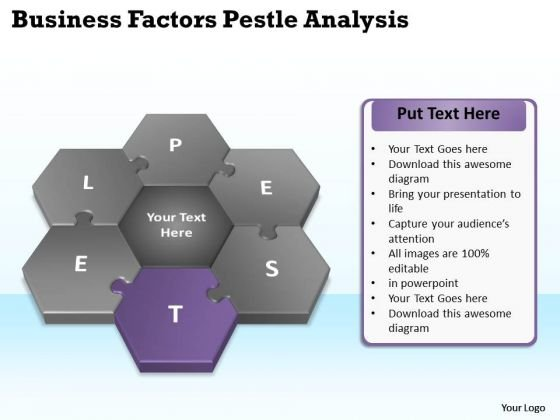 Business Flow Diagram PowerPoint Templates Process Pestlel Analysis Model Ppt Slides