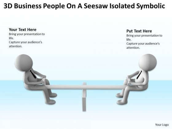 Business Flow Diagram Presentations People Seesaw Isolated Symbolic
