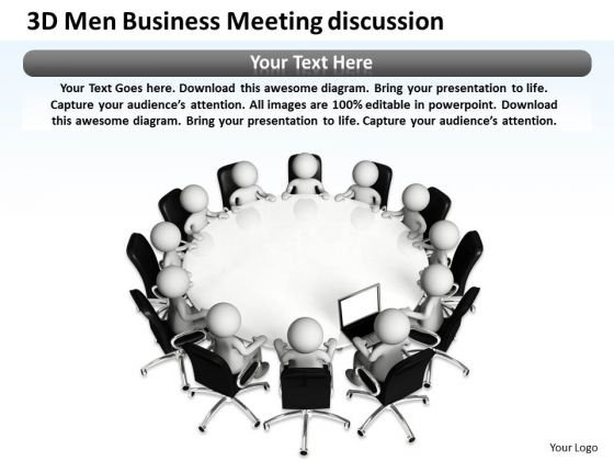 Business Flow Diagrams Meeting Discussion PowerPoint Templates Ppt Backgrounds For Slides