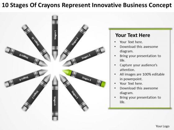 Business Flow Diagrams Of Crayons Represent Innovative Concept PowerPoint Slide