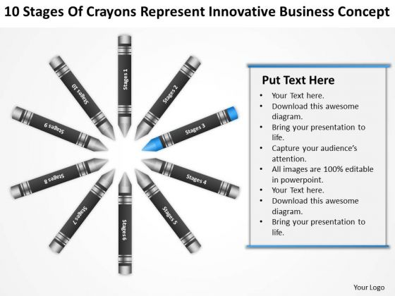 Business Flow Diagrams Of Crayons Represent Innovative Concept Ppt PowerPoint Slide