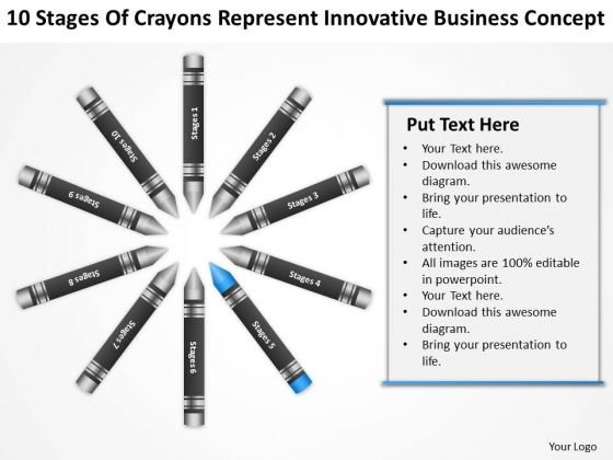 Business Flow Diagrams Of Crayons Represent Innovative Concept Ppt PowerPoint Slides