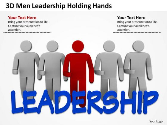Business Flowchart Examples 3d Men Leadership Holding Hands PowerPoint Templates