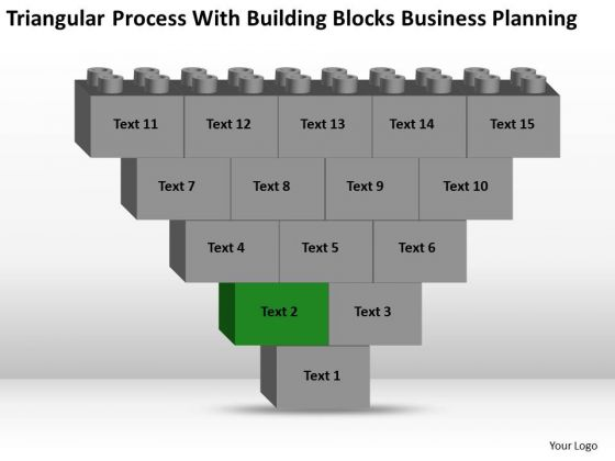Business Flowchart Process With Building Blocks Planning Ppt PowerPoint Slides