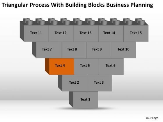 Business Flowchart Process With Building Blocks Planning Ppt PowerPoint Templates