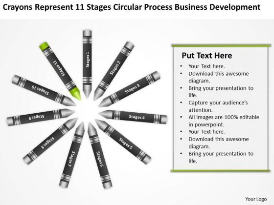 Business Flowcharts 11 Stages Circular Process Development Ppt PowerPoint Templates