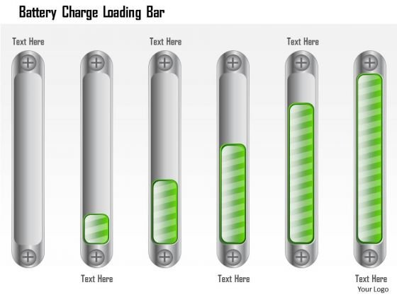 Business Framework Battery Charge Loading Bar PowerPoint Presentation