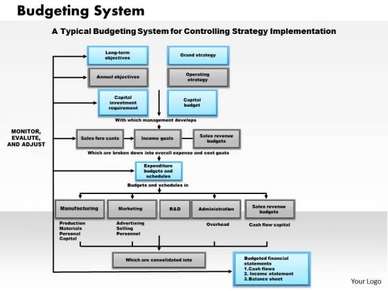 Business Framework Budgeting System PowerPoint Presentation