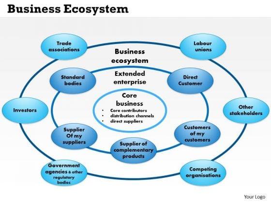 Business Framework Business Ecosystem PowerPoint Presentation
