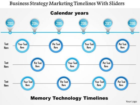 Business Framework Business Strategy Marketing Timelines With Sliders PowerPoint Presentation