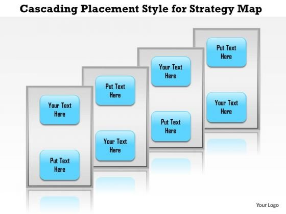 Business Framework Cascading Placement Style For Strategy Map PowerPoint Presentation