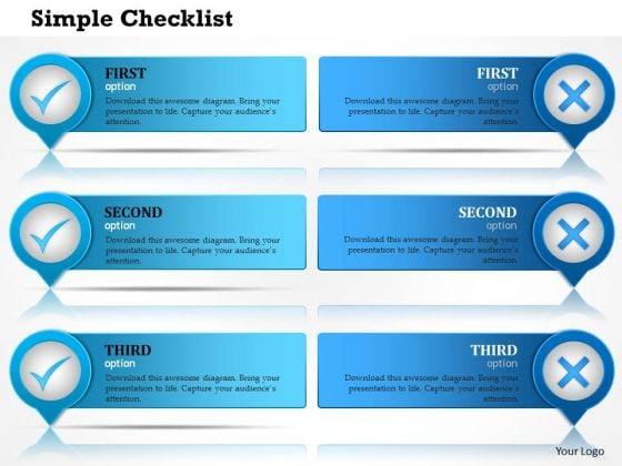 Business Framework Checklist PowerPoint Presentation