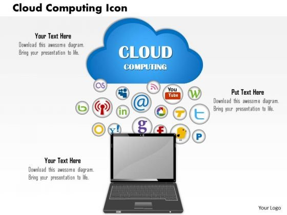 Business Framework Cloud Computing Icon PowerPoint Presentation