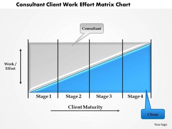 Business Framework Consultant Client Work Effort Matrix Chart PowerPoint Presentation