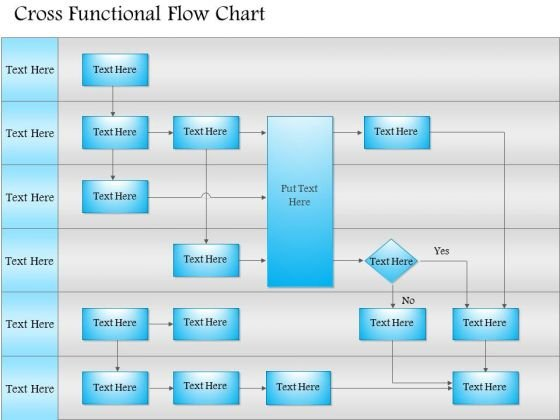 cross functional flowchart powerpoint templates, slides and graphics, Modern powerpoint