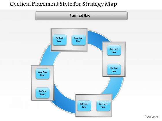 Business Framework Cyclical Placement Style For Strategy Map PowerPoint Presentation