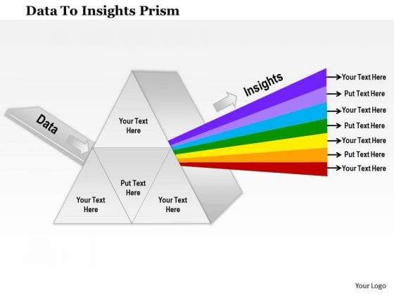 Business Framework Data To Insights Prism PowerPoint Presentation