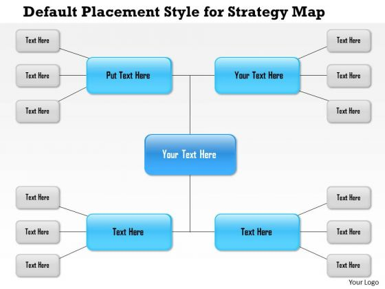 Business Framework Default Placement Style For Strategy Map PowerPoint Presentation