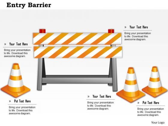 Business Framework Entry Barrier PowerPoint Presentation