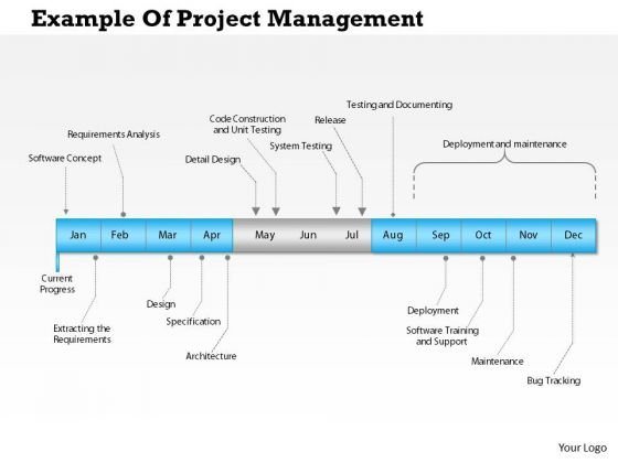 business framework example of project management powerpoint