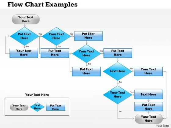 Business Framework Flow Charts Examples PowerPoint Presentation