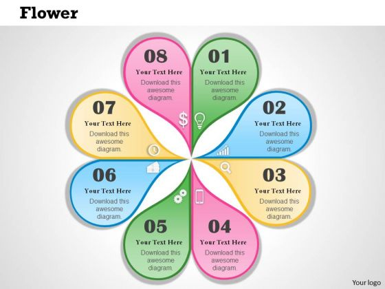 Business Framework Flower Diagram PowerPoint Presentation