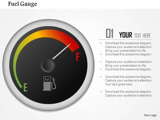 Business Framework Fuel Gauge Indicator PowerPoint Presentation