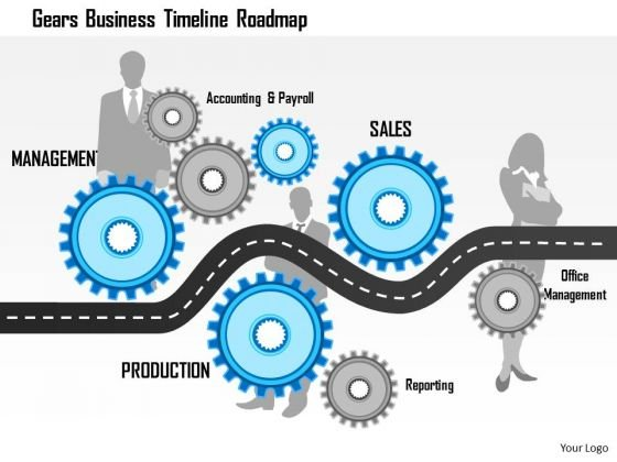 Business Framework Gears Business Timeline Roadmap PowerPoint Presentation PowerPoint Presentation