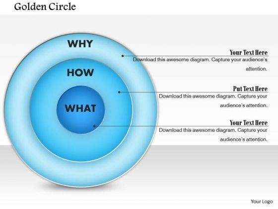 Business Framework Golden Circle PowerPoint Presentation