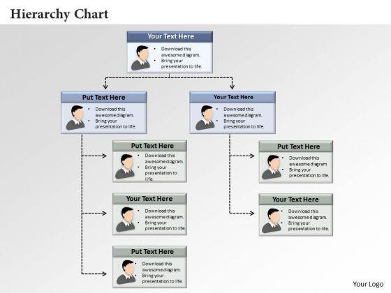 Business Framework Hierarchy Chart PowerPoint Presentation