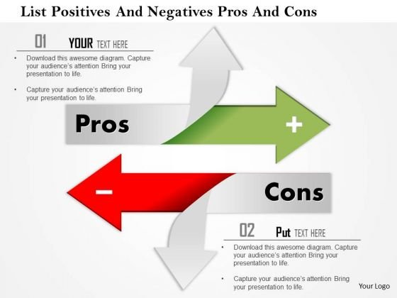 Business Framework List Positives And Negatives Pros And Cons PowerPoint Presentation