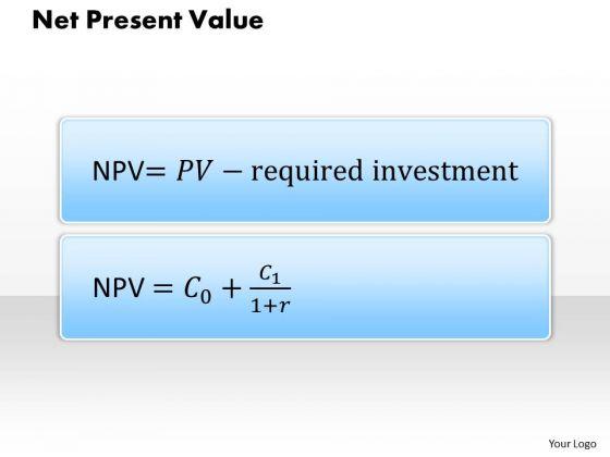 Business Framework Net Present Value PowerPoint Presentation