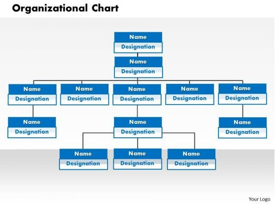 Business Framework Organization Chart In PowerPoint PowerPoint Presentation