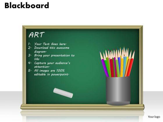 Business Framework PowerPoint Blackboard PowerPoint Presentation