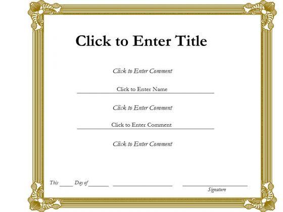 Business Framework PowerPoint Certificate Template 2 PowerPoint Presentation