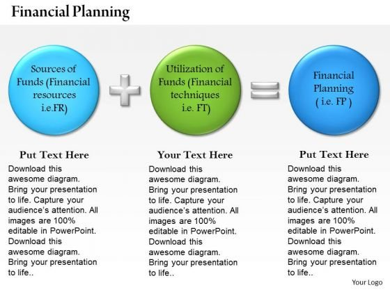 business framework presentations of financial planning powerpoint