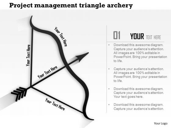 Business Framework Project Management Triangle Archery PowerPoint Presentation