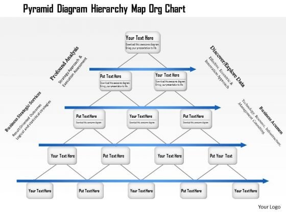 Business Framework Pyramid Diagram Hierarchy Map Org Chart PowerPoint Presentation