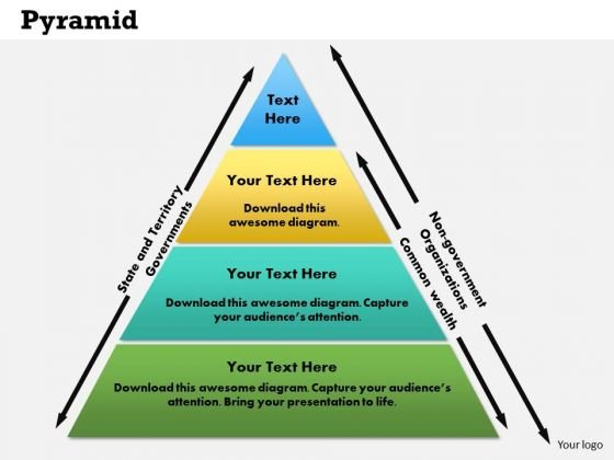 Business Framework Pyramid PowerPoint Presentation