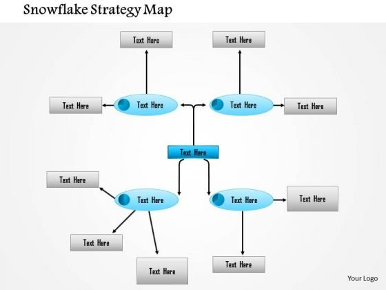 Business Framework Snowflake Strategy Map PowerPoint Presentation