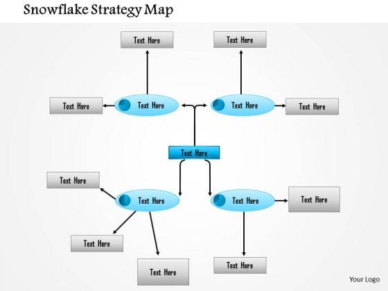 Business Framework Snowflake Strategy Map PowerPoint Presentation