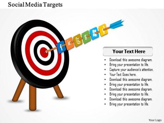 Business Framework Social Media Targets PowerPoint Presentation