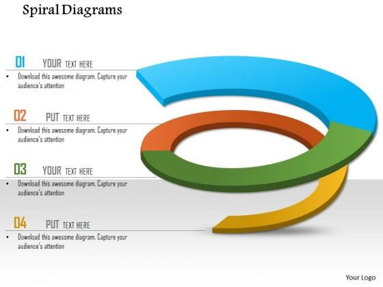 Business Framework Spiral Diagrams For PowerPoint Presentation